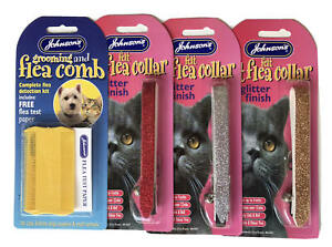 Johnsons GLITTER Cat Flea Collar With Bell (Removable) & COMBS REDUCED TO CLEAR.