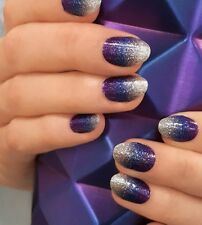 "Incoco/Color Street ""Spaced Out"" Nail Polish Strip Purple Glitter Ombre"