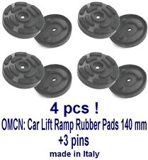 SET OF 4 PADS OMCN 2 Post Car Lift Ramp Rubber Pads -140 mm +3 pins -REAL RUBBER