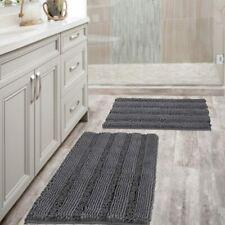 New ListingBath Mats Bathroom Non Slip Ultra Thick Soft Striped Floor Mats Bath Rugs Room