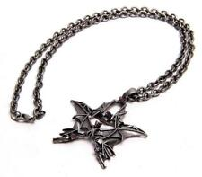 Bat Pentacle Necklace - Silver