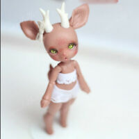 1/12 BJD SD Dolls Cute Fawn Doll Resin Nude Ball Jointed Doll + Eyes no Makeup