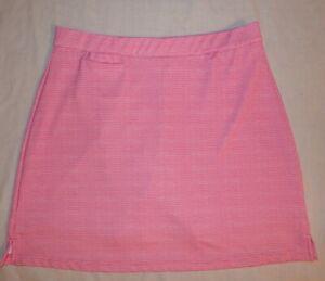 PETER MILLAR Pink Dot ELEMENT Wicking 50+ UPF GOLF SKORT Womens M