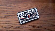 A quality hard enamel Barbour international limited edition badge