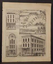 Illinois Adams County Map Furnace Builder Joseph & Nelke Dry Goods 1872 K18#28