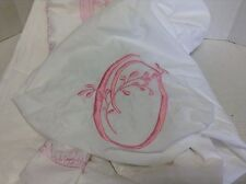 Pottery Barn Kids Pink Embroidered Twin Duvet Bed Cover Monogram O