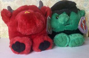 Puffkins Stuffed Animals Limited Edition Halloween-Stitch & Bruno Collectible