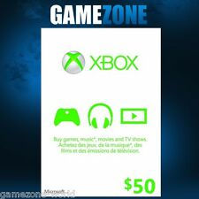 Xbox Live $50 Canada Gift Card Points CDN For Microsoft Xbox 360 / Xbox One