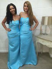 Vestido de fiesta Satén vestido para boda dama de honor boda Noche Maxi Formal Lucy Lote