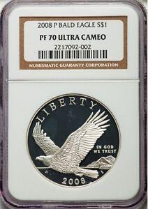 2008 P Silver $1 Bald Eagle NGC PF70UCAM Ultra Cameo