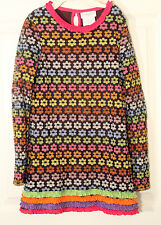 EMILY ROSE GIRLS GROOVY FLORAL RUFFLE COUTURE FALL COLOR DRESS SIZE 10  $82.00