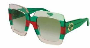 Authentic Gucci GG 0178 S 001 Multicolored/Green Gradient Sunglasses