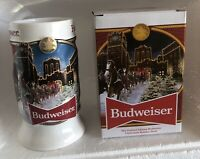 2020 Budweiser Holiday Stein Mug Annual Christmas Series Clydesdale New In Box!