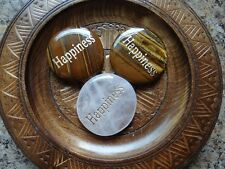 *HAPPINESS* Carved Worry Stone Gemstone Affirmation Wiccan Pagan Metaphysical