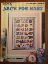 Leisure Arts Cross Stitch Pattern by Carol Emmer ABC'S FOR BABY 1991 Free Ship!
