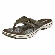 Clarks Brinkley Sea Pewter Synthetic Adjustable Hook & Loop fasten Womens Sandal