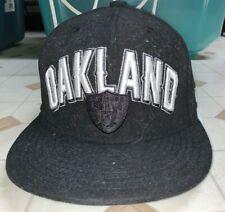 Nice Oakland / Las Vegas Raiders Hat Cap Size 7 3/8 New Era NFL 59Fifty Black