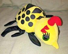 MISS SPIDER hand glove puppet 1997 GUND vintage stuffed plush itsy bitsy Yellow
