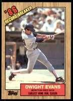 1987 Topps Tiffany Set Break Dwight Evans Boston Red Sox #3