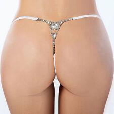 NEW lingerie DIAMANTE G-STRING THONG PANTIES shop online MESH PANTY THONGS petit