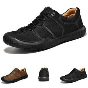 Mens Low Top Faux Leather Climbing Shoes Outdoor Hiking Sports Flats Walking L