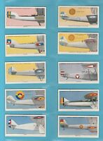 AEROPLANES - LAMBERT & BUTLER - SET  OF  50  AEROPLANE  MARKINGS  CARDS  -  1937