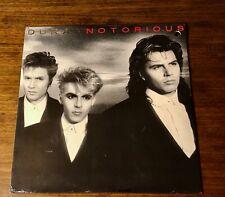 DURAN DURAN ~ NOTORIOUS ~ ORIGINAL PROMO LP ~ STILL FACTORY SEALED ~ 1986