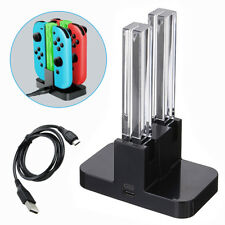 For Nintendo Switch Joy-Con Remote Control Charging Dock Station with LED Light