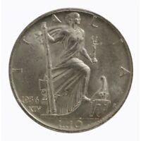 1936 Royaume D'Italie Monnaie Livres 10 Empire Vitt. Em. III Argent MF60789