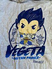 Funko Pop Tee Dragon Ball Z Vegeta Saiyan Prince T-Shirt M - L -Xl