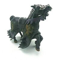 PAPO Black Jousting Dragon Crest Horse Figure Medieval  Collectable Toy