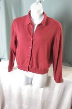 Cherry & Webb Cardigan Sweater L Large Rust Acrylic Cotton Blend Bust 44 EPOC