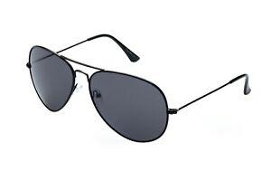 Alpland  Pilotenbrille  Sonnenbrille  Fliegerbrille  TOP GUN  schwarz XXL Gläser