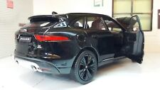 Jaguar F Pace 4x4 V6 Black Welly 1:24 Scale Diecast Detailed Interior Model 2016