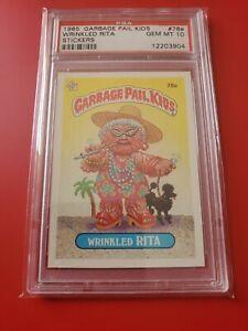 Garbage pail kids Series 2 1985 OS2 Wrinkled Rita 78a glossy gem mint PSA 10