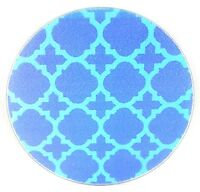 """Tempered Glass 8"""" Round Trivet Cutting Board Hot Plate CHOICE OF 10 DESIGNS!!"""