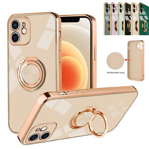 For iPhone 11 12 Pro Max 12Mini XS XR Magnetic Shockproof Ring Holder Case Cover