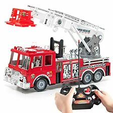 Prextex Remote Control 13-Inch Rescue Fire Truck with lights and sirens