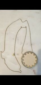 House Of Harlow 1960 Pink Gold Leather Sunburst Necklace