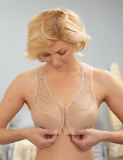 NEW 52 J Bra msrp $42 FRONT-CLOSE Support WIDE-STRAPS Racerback Nude CLEARANCE!