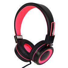 RockPapa 882 Stereo Foldable Girls Pink Headphones Mic Headset Adjustable iPhone