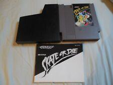Skate or Die NES Cartridge + Manual - TESTED