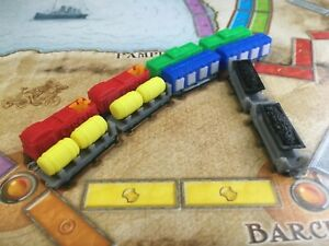 Ticket To Ride 10th & Europe 15th Anniversary Board Game 3D Print Custom Trains