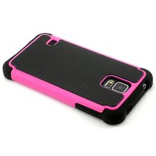 New Hot Pink Heavy Duty Protection Case For Samsung Galaxy S5 i9600 SV