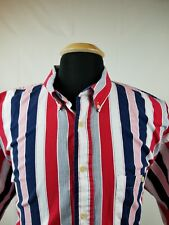 Patriotic Red White & Blue S/S Button Down Shirt Perfect for 4th Of July Sz 2XL
