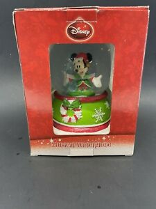 Disney Mickey Mouse Musical Waterglobe Snowglobe Jingle Bells NEw In Box