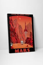 "Crimson Canyons Of Mars by Steve Thomas Gallery Wrapped Canvas 20""x30"""