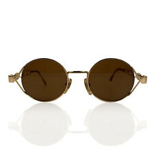 Authentic Moschino by Persol Vintage Gold Round Unisex Mint Sunglasses Mod MM264