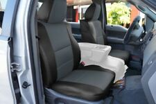 FORD F-150 04-08 S.LEATHER FRONT SEAT COVER NO BUILT IN SEATBELT BLACK/CHARCOAL