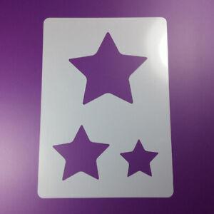 A5 Schablone Stern Star 3 Sterne - BA598
